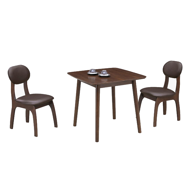 ダイニングテーブルセット ダイニングセット 3点セット 2人掛け カフェテーブルセット 2人用 食堂セット 食卓テーブルセット ダイニング3点セット 二人掛け 二人用 ブラウン 木製 アジアン