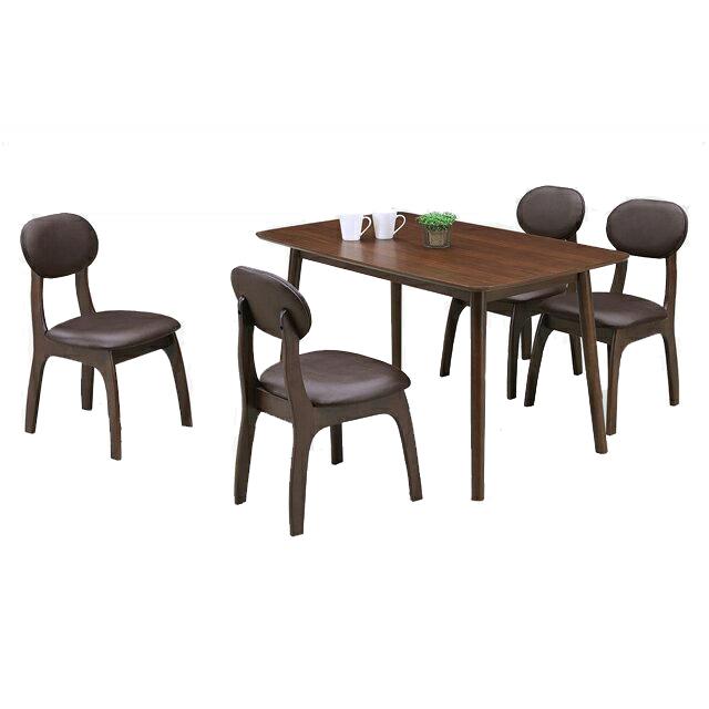 ダイニングテーブルセット ダイニングセット 5点セット 4人掛け 4人用 食堂セット 食卓テーブルセット ダイニング5点セット・カフェテーブルセット 四人掛け 四人用 ブラウン 木製 アジアン