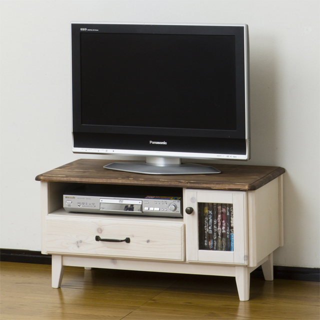 Tv Stand Width 80 Cm Whitewash White Brown Wood French Country Style Low Type Board Living Av Storage Make
