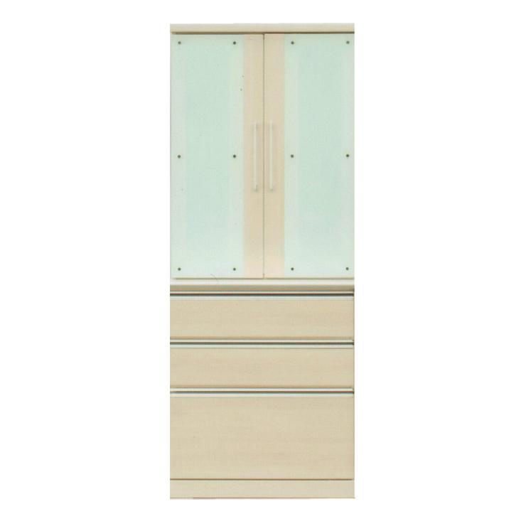 食器棚 完成品 幅80cm 80cm幅 80幅 約高さ190cm 引き出し付き ナチュラル 木製 ダイニングボード キッチンボード 食器収納家具 キッチン収納棚 水屋