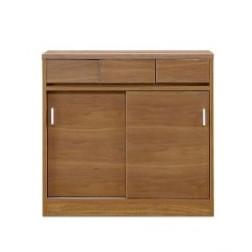 キッチンカウンター 完成品 引き戸 幅90cm 90cm幅 90幅 キッチン収納家具 食器収納 食器棚 家電収納 キッチンボード 木製 モダン ブラウン