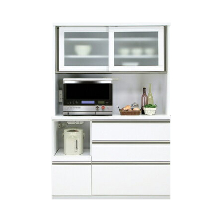 Kitchen Rack Microwave Units Width 120 Cm White White Wooden Modern Open Dining Board Kitchen Board Range Lack Range Storage Kitchen Storage Shelf