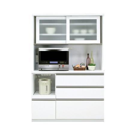 Kitchen Rack Microwave Units Width 120 Cm White Wooden Modern Open Dining Board Range Lack Storage Shelf