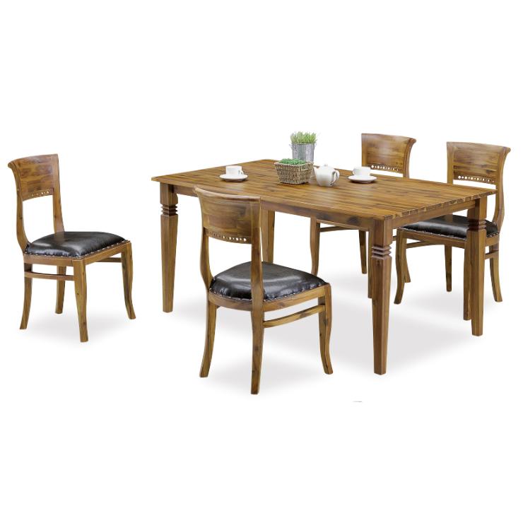 ダイニングテーブルセット ダイニングセット 5点セット 4人掛け 4人用 食堂セット 食卓テーブルセット ダイニング5点セット カフェテーブルセット 四人掛け 四人用 ブラウン アンティーク風