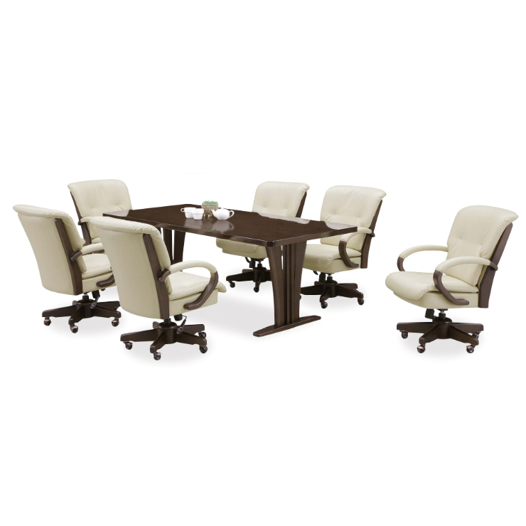 ダイニングテーブルセット ダイニングセット 7点セット 6人掛け 6人用 食堂セット 食卓テーブルセット ダイニング7点セット・カフェテーブルセット 六人掛け 六人用 木製 モダン風 ブラウン