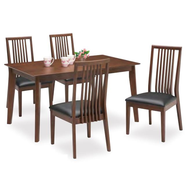 ダイニングテーブルセット ダイニングセット 5点セット 4人掛け 4人用 食堂セット 食卓テーブルセット ダイニング5点セット カフェテーブルセット 四人掛け 四人用 木製 北欧モダン風 ブラウン