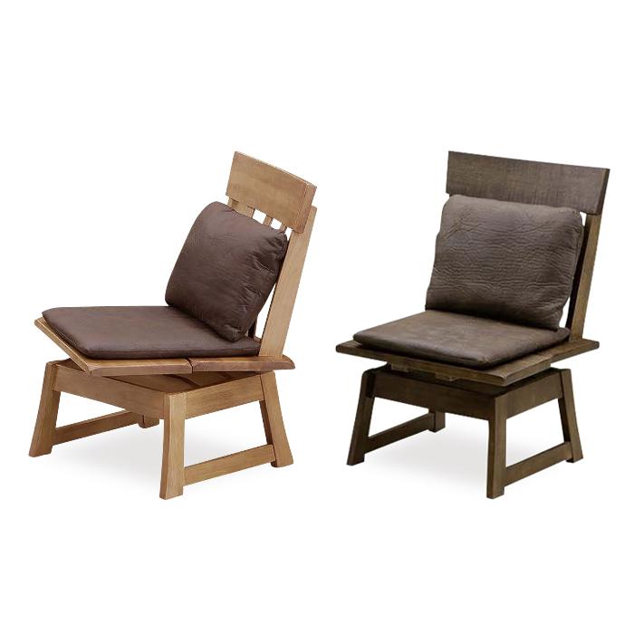 ダイニングチェアー 木製 回転式 幅52cm 食堂椅子 食堂イス 食卓チェアー 食堂チェアー カウンターチェアー いす カフェチェアー 和風 ブラウン ナチュラル