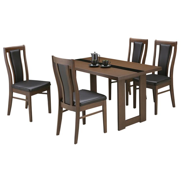 ダイニングテーブルセット ダイニングセット 5点セット 4人掛け 4人用 食堂セット 食卓テーブルセット ダイニング5点セット・カフェテーブルセット 四人掛け 四人用 ブラウン 木製 モダン風