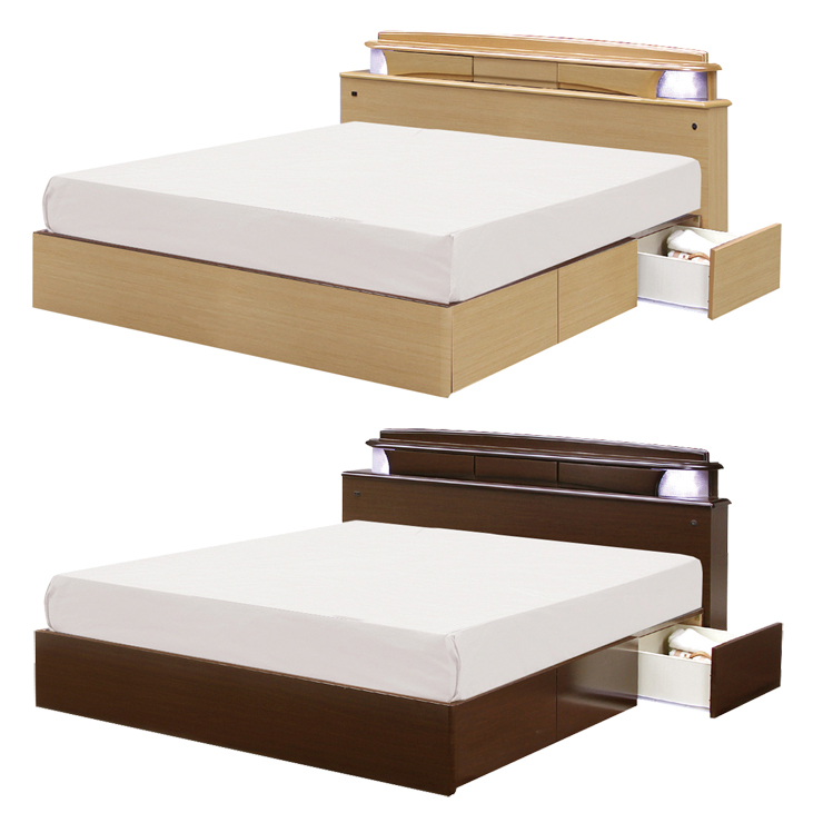 It S Drawers Dark Brown Natural Wood Modern Double Bed Frame Only