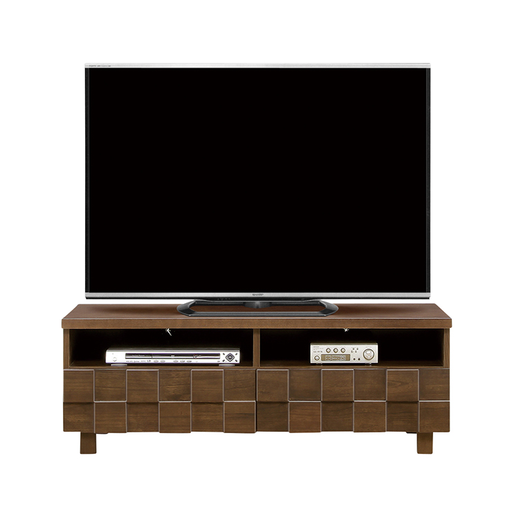 テレビボード ローボード 完成品 約幅120cm 脚付き ブラウン