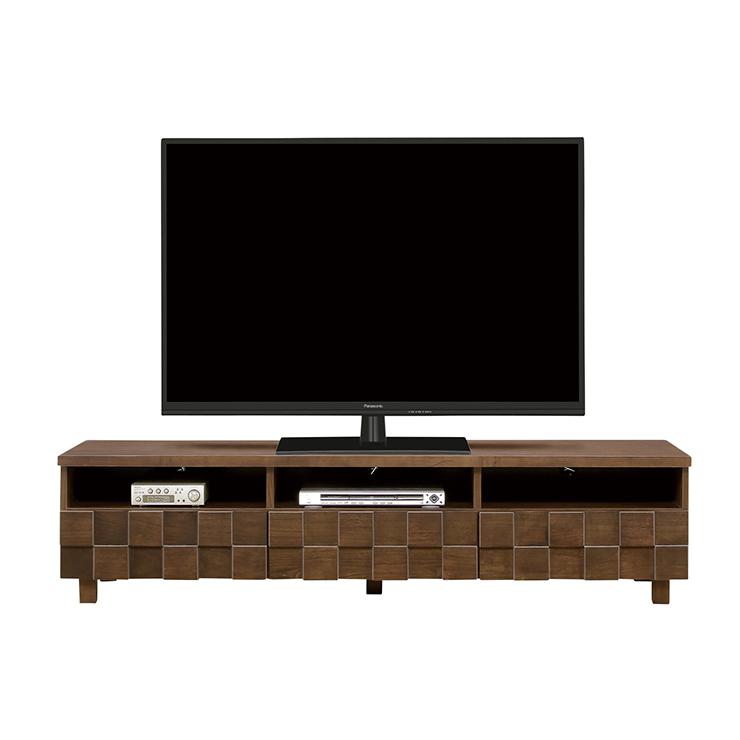 テレビボード ローボード 完成品 約幅180cm 脚付き ブラウン