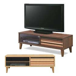テレビ台 テレビボード ローボード 完成品 幅120cm 脚付き ブラウン ナチュラル 木製 北欧風 ロータイプTVボード てれび台 TV台 ローボード リビングボード AV収納