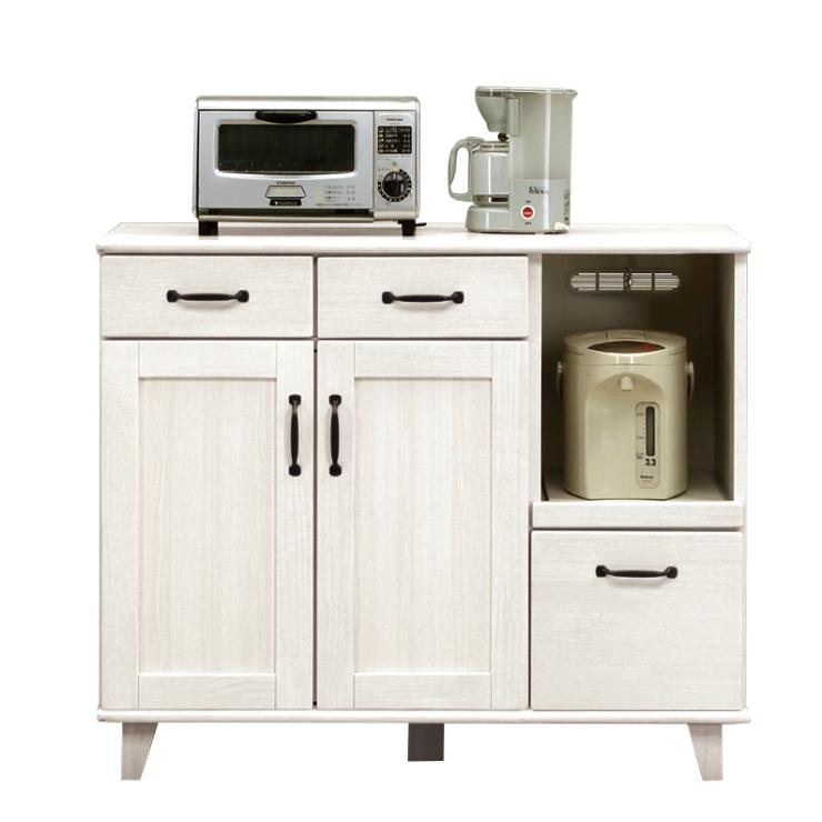 キッチンカウンター 完成品 幅105cm ホワイト