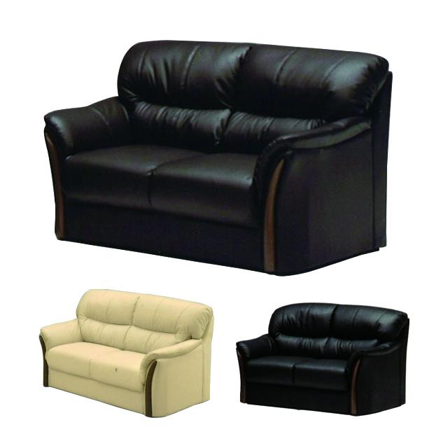 ソファー 2人掛けソファー 2人用ソファー 二人掛け 二人用 ブラウン ブラック 黒 イエロー 黄 合皮製 モダン風 そふぁー