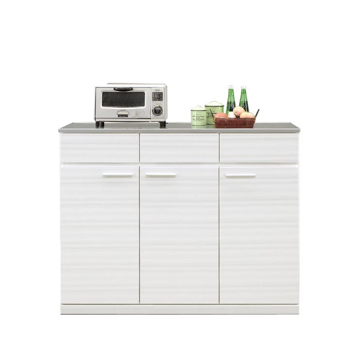キッチンカウンター 完成品 幅120cm 120cm幅 120幅 ホワイト 白 木製 モダン風 キッチン収納家具 食器収納  食器棚 家電収納 キッチンボード 国産品 日本製