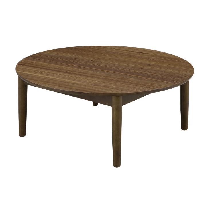 リビングテーブル 幅90cm 円形タイプ ブラウン