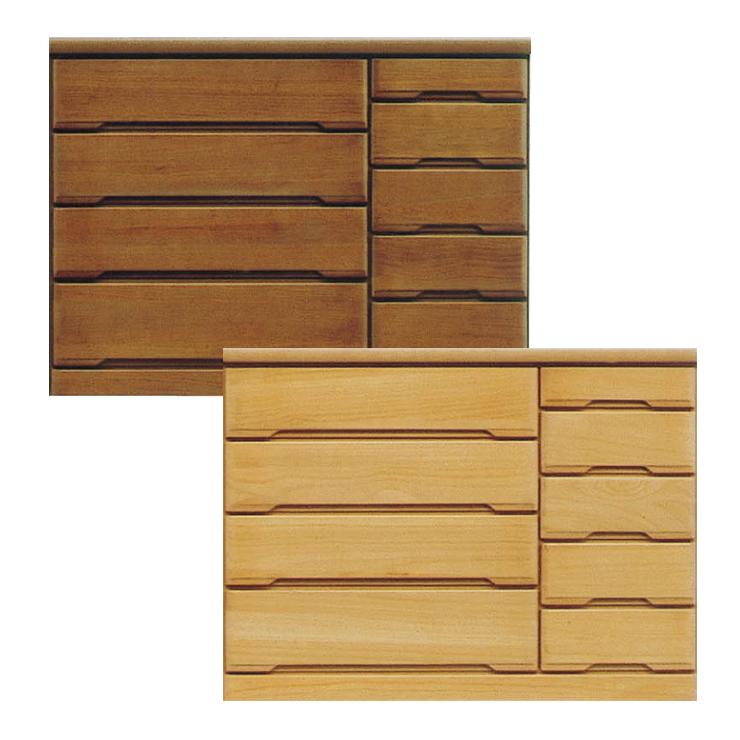 タンス ローチェスト 完成品 約幅120cm 4段 5段 桐タンス 木製 ナチュラル ブラウン
