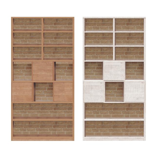 オープンラック 書棚 完成品 約幅95cm ハイタイプ