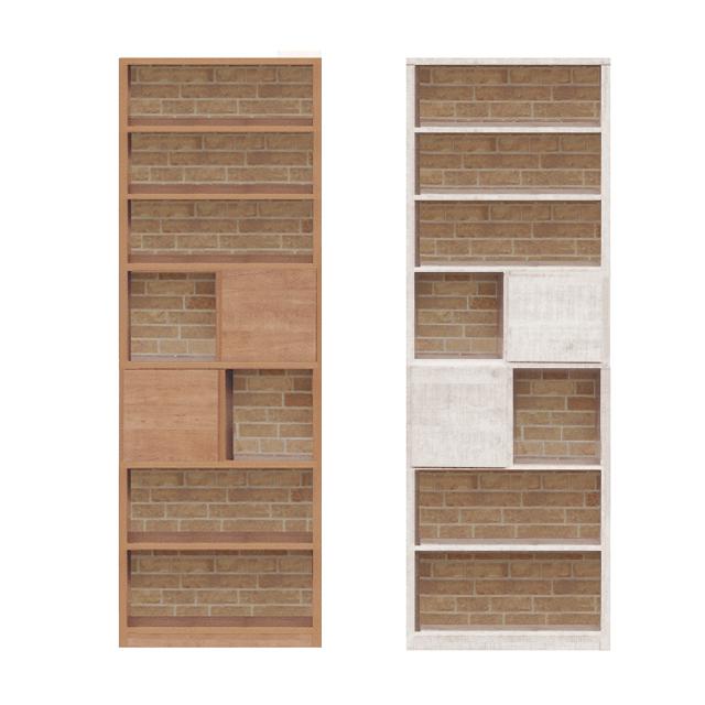 オープンラック 書棚 完成品 約幅65cm ハイタイプ