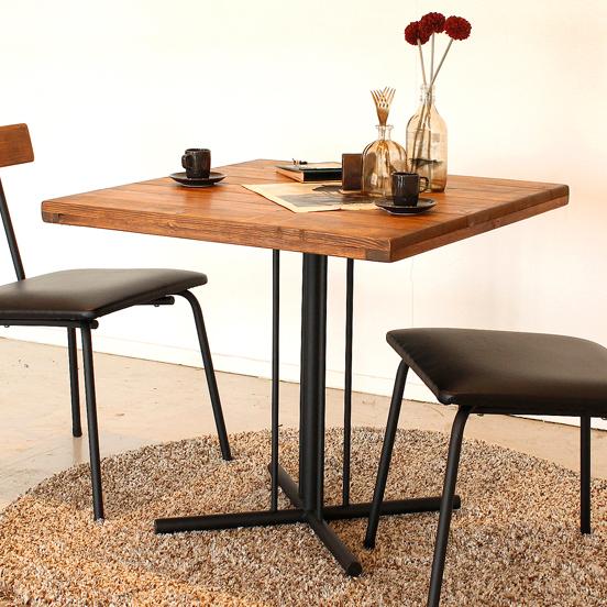 ダイニングテーブル 幅70cm 2人用 木製 アンティーク風 ブラウン カフェテーブル 食堂テーブル 食卓テーブル てーぶる 2人用 二人用