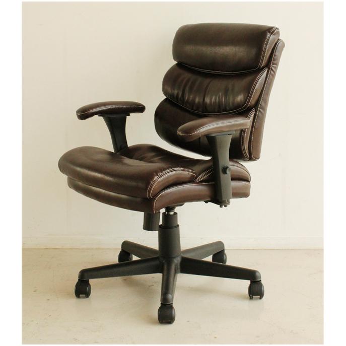 オフィスチェアー 事務用チェアー 事務用椅子 デスクチェアー ワークチェアー パソコンチェアー ワーキングチェアー おしゃれ 合皮張り製 モダン 肘付き