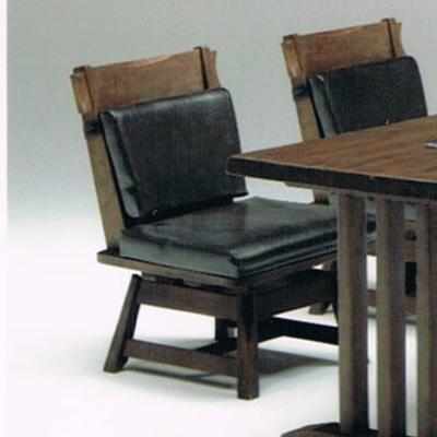 ダイニングチェアー 回転式 ブラウン 木製 和風モダン風 食堂椅子 食堂イス 食卓チェアー 食堂チェアー カウンターチェアー いす カフェチェアー
