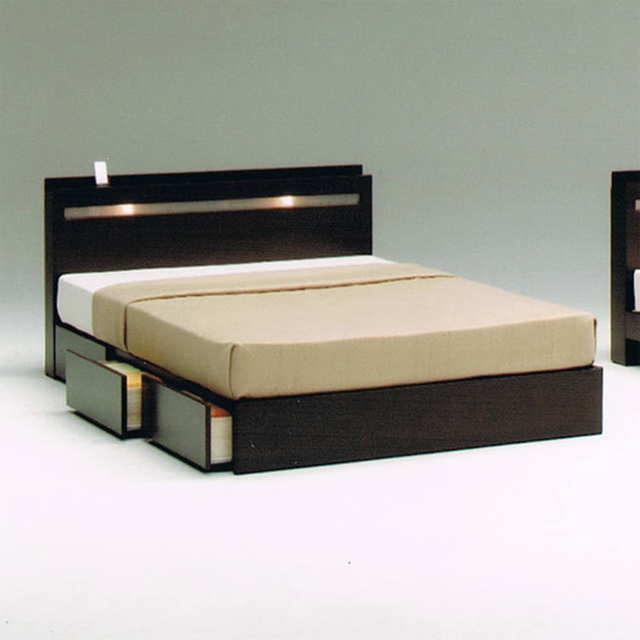 Superieur 140 Cm Wide Double Bed Frame Double Bed Frame With Drawers Natural Brown  Wood Modern