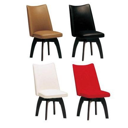 ダイニングチェアー 回転式 レッド 赤 ホワイト 白 ブラック 黒 カフェブラウン 木製 モダン風 食堂椅子 食堂イス 食卓チェアー 食堂チェアー カウンターチェアー いす カフェチェアー