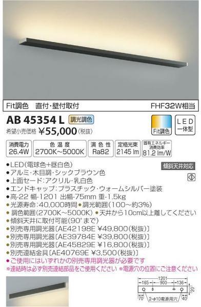 [マラソン中エントリーでポイント10倍]コイズミ照明 AB45354L ブラケット 一般形 自動点灯無し LED