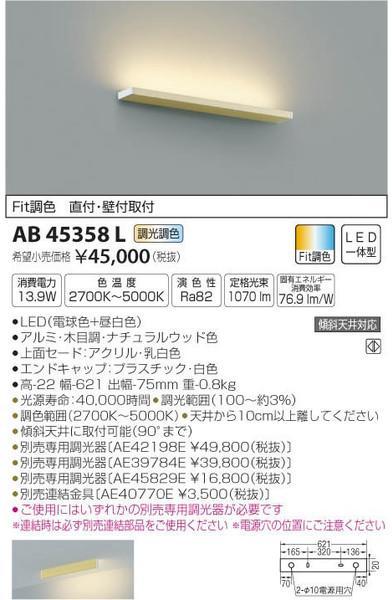 [マラソン中エントリーでポイント10倍]コイズミ照明 AB45358L ブラケット 一般形 自動点灯無し LED