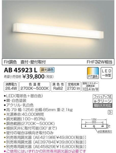 [マラソン中エントリーでポイント10倍]コイズミ照明 AB45923L ブラケット 一般形 自動点灯無し LED