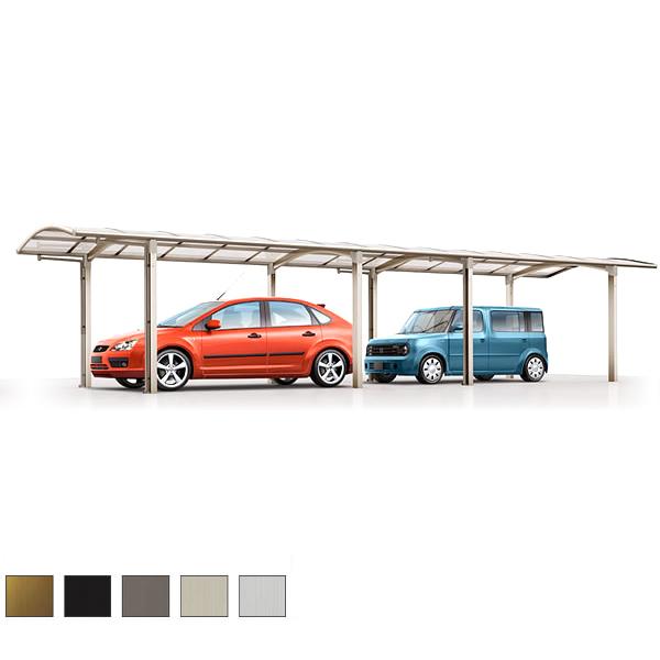 LIXIL/リクシル カーポート 2台用 カルエードシグマIII 縦連棟 一般タイプ 5727 W2741×L11334 駐車場 車庫 ガレージ 本体 建材屋