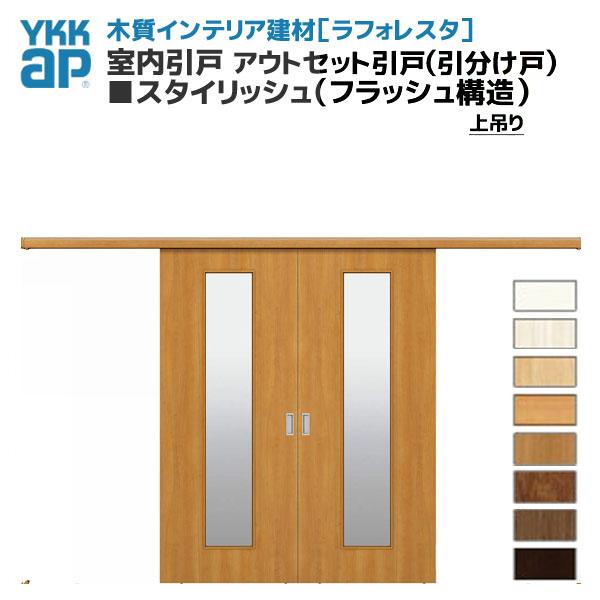 【8月はエントリーでP10倍】YKKAP ラフォレスタ 室内引戸 アウトセット引戸(引分け戸) 上吊り 建材屋