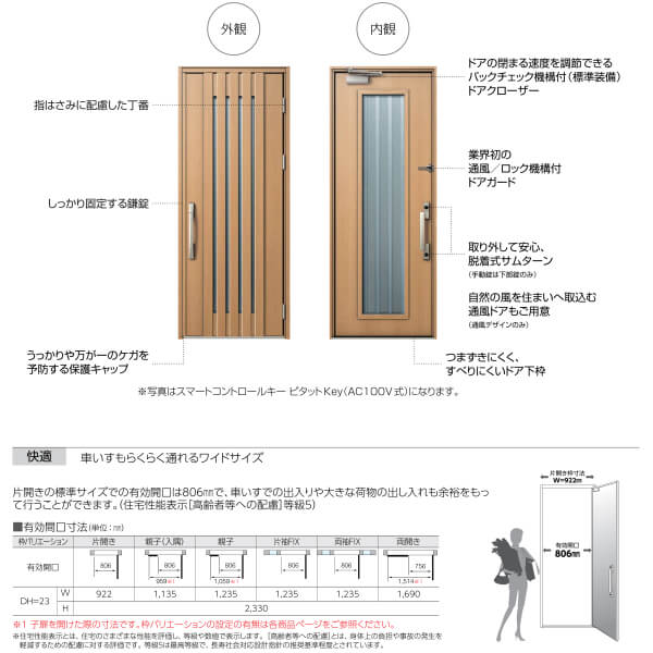【エントリーでP10倍 7/1~7/31】玄関ドア YKKap Venato D30 C02 片開きドア 手動錠仕様 W922×H2330mm D4/D2仕様 YKK 断熱玄関ドア ヴェナート 新設 おしゃれ リフォーム 建材屋