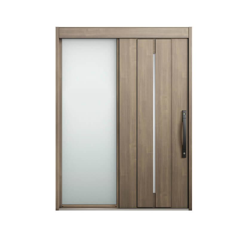 玄関引戸 リクシル エルムーブ2 L22型 片袖 本体鋼板仕様 呼称W187 W1870×H2288mm 玄関引き戸 LIXIL/TOSTEM トステム 玄関ドア サッシ リフォーム DIY 建材屋