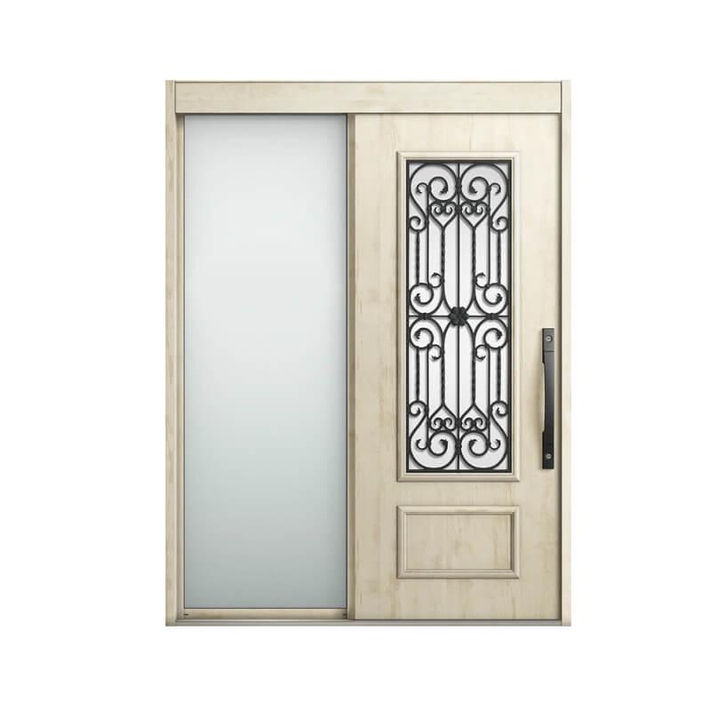 玄関引戸 リクシル エルムーブ2 L63型 片袖 本体鋼板仕様 呼称W169 W1692×H2288mm 玄関引き戸 LIXIL/TOSTEM トステム 玄関ドア サッシ リフォーム DIY 建材屋