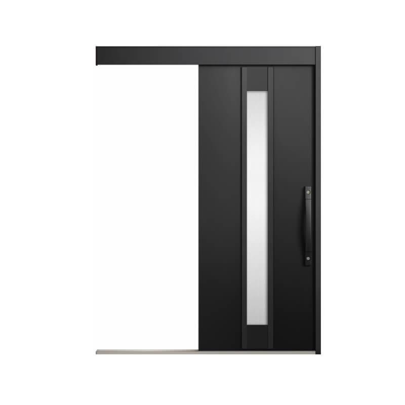 玄関引戸 リクシル エルムーブ2防火戸 L19型 一本引き 本体鋼板仕様 呼称W160 W1608×H2150mm 玄関引き戸 LIXIL/TOSTEM トステム 玄関ドア サッシ 建材屋