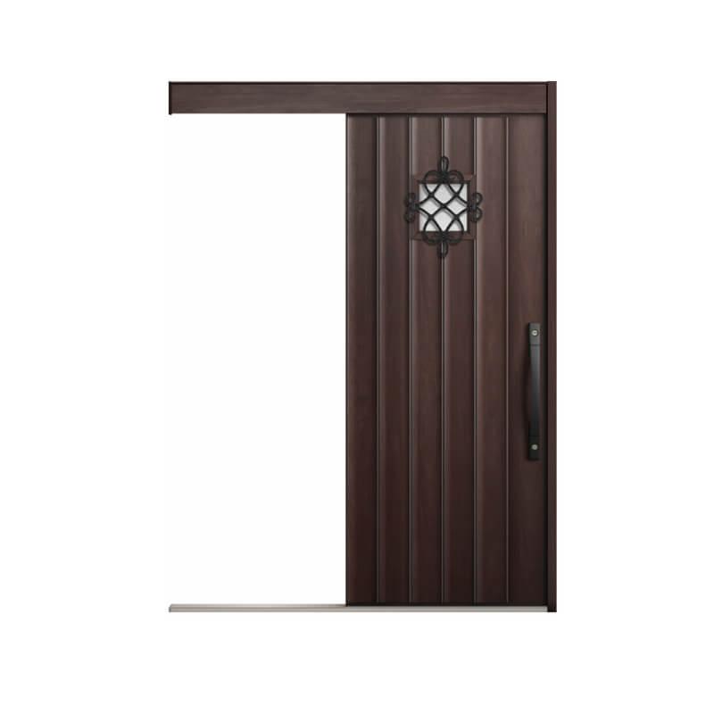 玄関引戸 リクシル エルムーブ2防火戸 L62型 一本引き 本体鋼板仕様 呼称W183 W1838×H2150mm 玄関引き戸 LIXIL/TOSTEM トステム 玄関ドア サッシ 建材屋