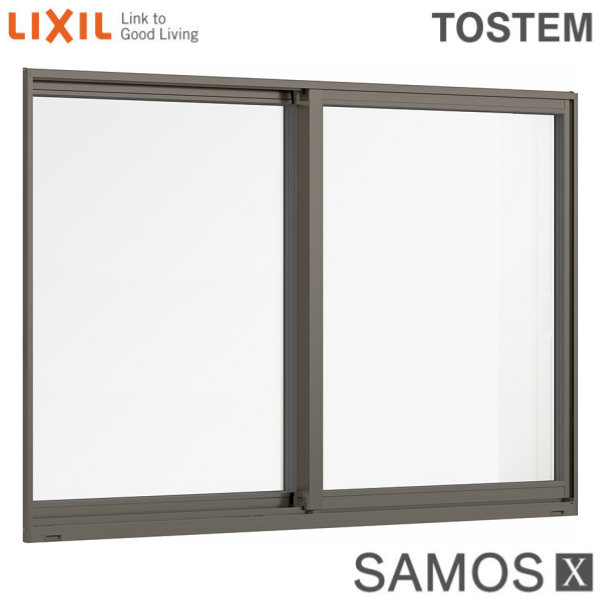 樹脂アルミ複合サッシ 引き違い窓 11411 W1185×H1170 LIXIL サーモスX 半外型 LOW-E複層ガラス (アルゴンガス入) アルミサッシ 引違い 建材屋