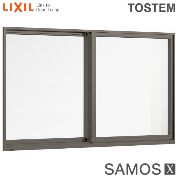樹脂アルミ複合サッシ 引き違い窓 11405 W1185×H570 LIXIL サーモスX 半外型 トリプルガラス/ダブルLow-Eガラス (クリプトンガス入・アルゴンガス入) 建材屋