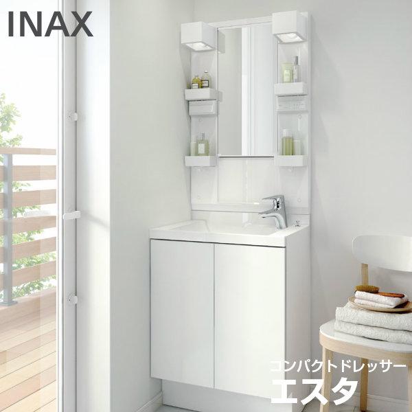 【爆買い!】 こちらは洗面台のセット商品です PLAN 【エントリーでP10倍 LIXIL/INAX:リフォーム建材屋 No.CN010コンポタイプ エスタ 3/31まで】洗面化粧台 間口600mm-木材・建築資材・設備
