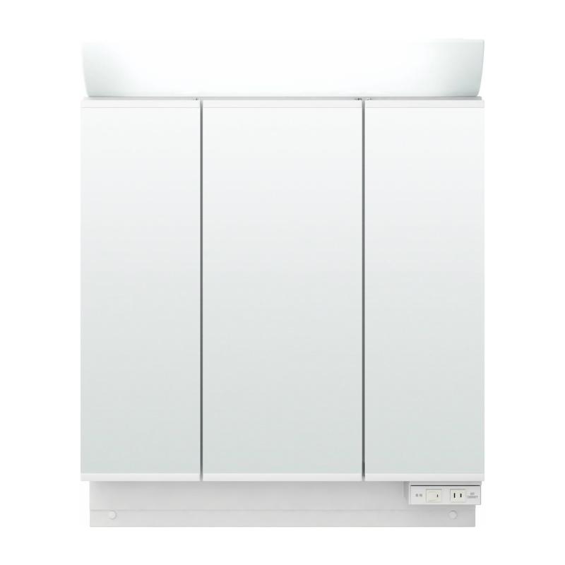 洗面化粧台 リクシル ピアラ ミラーキャビネット 間口900mm MAR2-903TXS 3面鏡 スタンダードLED 全収納 全高1900mm用 くもり止めなし 建材屋
