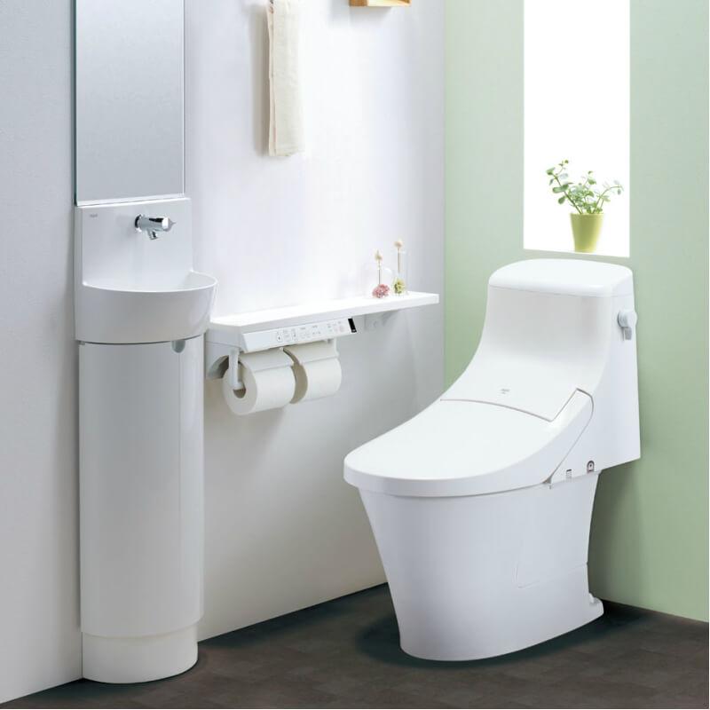 アメージュZA シャワートイレ 床上排水 ECO5 グレードZA1 BC-ZA20P+DT-ZA251Pトイレ 手洗なし ハイパーキラミック LIXIL/INAX 建材屋