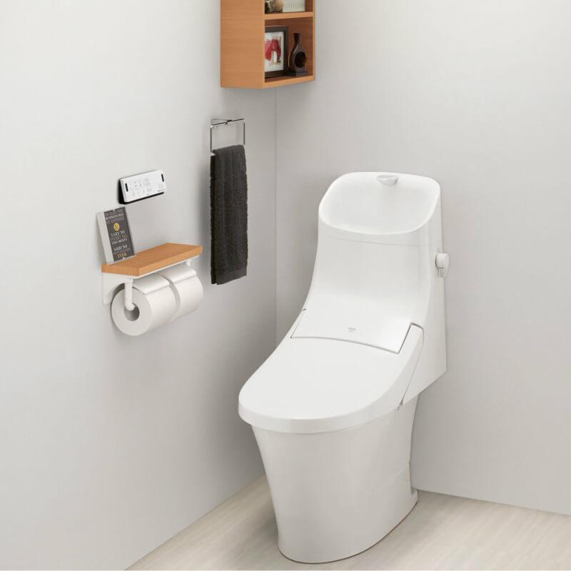 アメージュZA マンションリフォーム用 床上排水155 ECO6 ZAM2A(フルオート洗浄) YBC-ZA20APM+DT-ZA282APM 手洗付 アクアセラミック LIXIL/INAX 建材屋