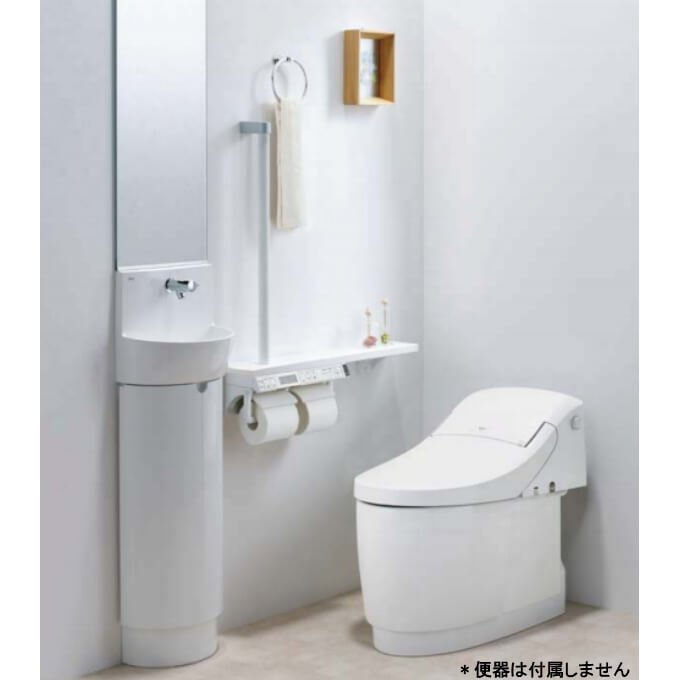 狭いトイレにも使いやすいベーシックな手洗いキャビネット トイレ手洗 コンパクト手洗キャビネット 購入 L-D203SCHE 激安卸販売新品 WAA 建材屋 LIXIL リクシル ハンドル水栓