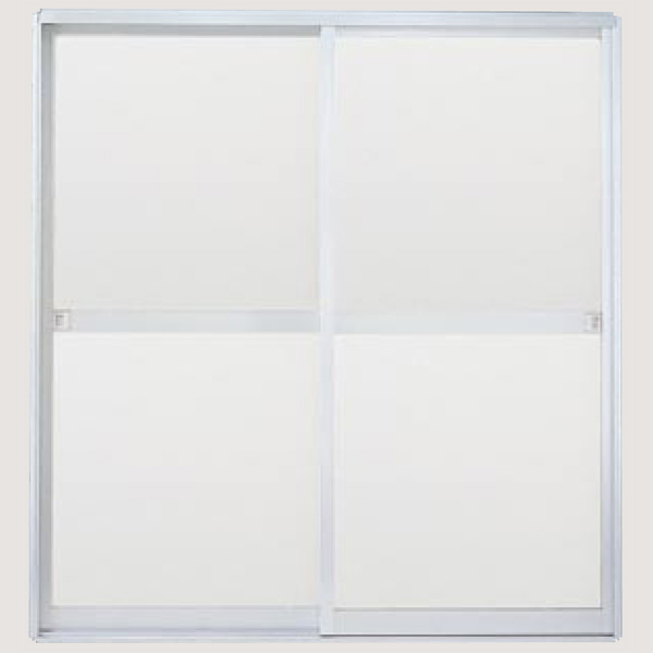 浴室引戸(引き戸) 枠付 引き違い戸 樹脂パネル H-16-17 W1670H1757 LIXIL/リクシル アルミサッシ 引違い 建材屋