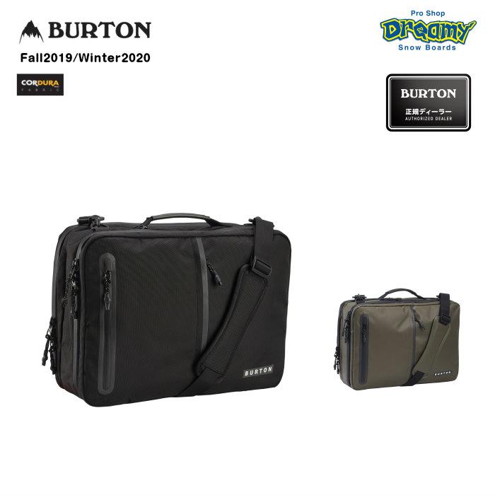BURTON バートン Switchup Backpack 185191 ブリーフケース 22L 3ウェイ Cordura ノートPC収納 タブレットスリーブ 耐水PUジップ CRAMゾーン 2019-2020 正規品