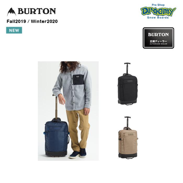 BURTON バートン Multipath Carry-On Travel Bag 213411 ウィールバッグ 40L 機内持ち込み 圧縮ストラップ TSA認証ロック対応ジップラー 2019-2020 正規品