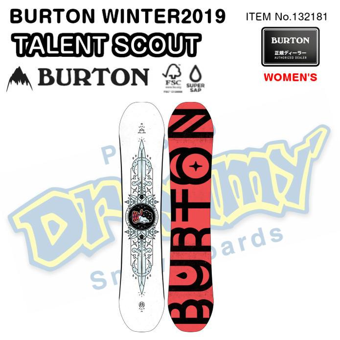 BURTON バートン TALENT SCOUT タレント スカウト 132181 パーク ミディアム/アグレッシブ スノーボード 板 レディース 2019モデル 正規品