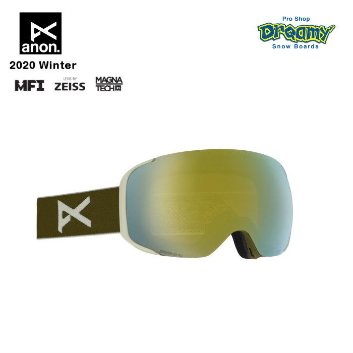 anon アノン M2 Goggle Asian Fit With Bonus Lens 18556102366 眼鏡対応 メンズ スノー ゴーグル アジアンフィット Magna-Tech MFI ZEISS SONARレンズ 正規品
